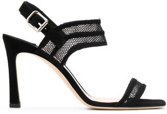 The Seller heeled mesh sandals