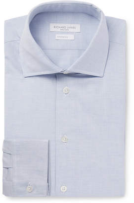 Richard James Light-Blue Slim-Fit Cutaway-Collar Cotton Oxford Shirt