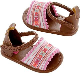 Carter's Girls' Baby Crib Shoe Multi-Color/Embroidered Sandal