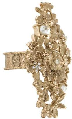 Chanel Floral Faux Pearl Cocktail Ring