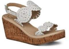 Jack Rogers Toddler's& Kid's Miss Luccia Metallc Leather Slingback Wedge Sandals