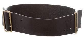 Miu Miu Wide Leather Waist Belt