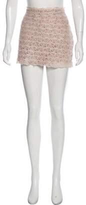 Haute Hippie Lace Mini Skirt