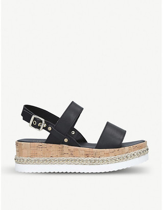 Carvela Krash embellished leather wedge sandals
