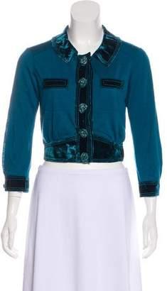 Louis Vuitton Long Sleeve Crop Top
