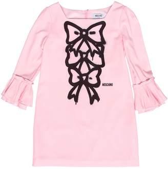 Moschino Bows Printed Crepe De Chine Dress