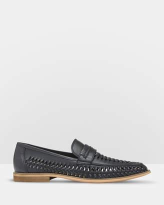 Oxford Matt Leather Woven Sandals