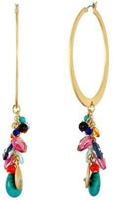 LAUREN Ralph Lauren - Pop Style Cluster Drop Hoop Earrings Earring $44 thestylecure.com