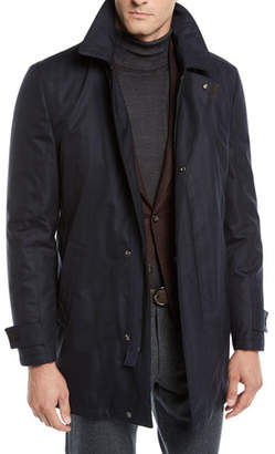 Corneliani Men's Storm System Wool-Blend Topcoat