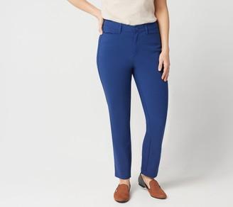 Denim & Co. Petite Double Weave Straight Leg Ankle Pants