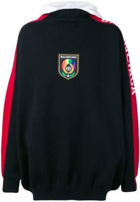 Balenciaga BB logo trim hoodie