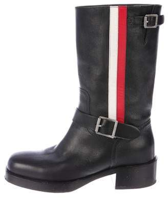 Christian Dior Leather Mid-Calf Boots Black Leather Mid-Calf Boots