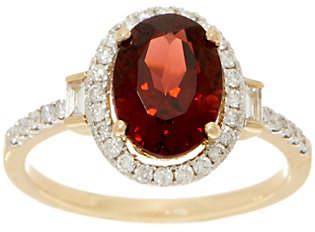 QVC 2.30 carat Garnet & 1/4 cttw Diamond Ring,14K gold