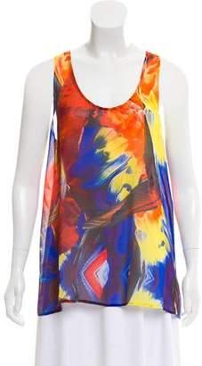 Camilla Silk Printed Sleeveless Top
