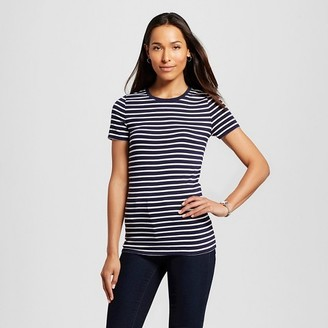 Merona Women's Striped Ultimate Crew Tee $9 thestylecure.com