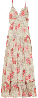 Paul & Joe Floral-print Cotton-gauze Maxi Dress - Cream