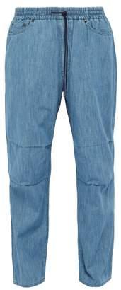 Kuro - Elasticated Waist Slubbed Denim Jeans - Mens - Indigo