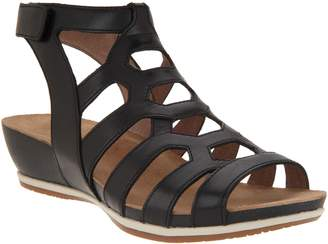 Dansko Leather or Nubuck Cutout Wedge Sandals - Valentina