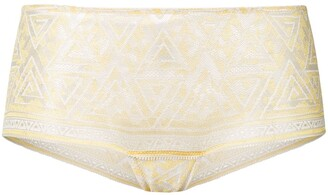 Chite' lace embroidered briefs