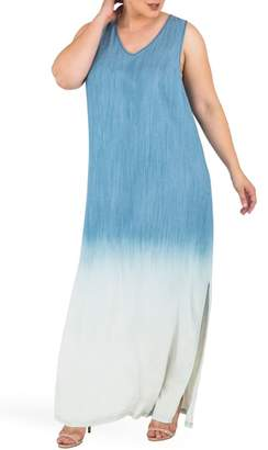 Standards & Practices Angie Ombre Chmbray Maxi Dress