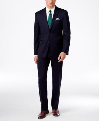 Lauren Ralph Lauren Men's Solid Navy Pure Wool Slim-Fit Suit $625 thestylecure.com