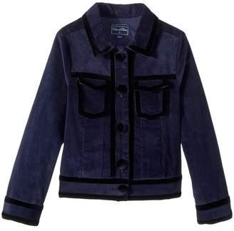 Oscar de la Renta Childrenswear Bolero Raw Edge Jacket Girl's Coat