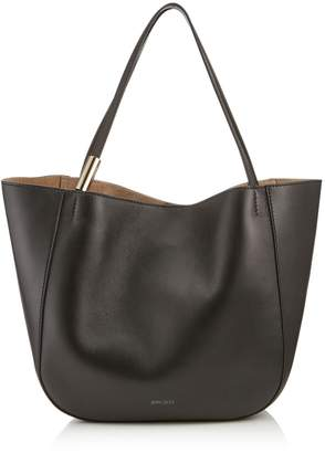 Jimmy Choo STEVIE TOTE Black Nappa Leather Tote Bag