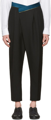 Haider Ackermann Black Wool Band Trousers $1,250 thestylecure.com