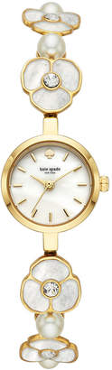 Kate Spade Women's Metro Gold-Tone Stainless Steel & Mother-Of-Pearl Bracelet Watch 21mm