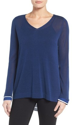 Women's Nydj Cutaway Back Layer Look Sweater $98 thestylecure.com