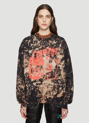 Ottolinger Acid Crew Neck Sweater in Black