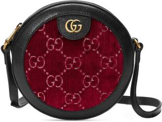 Gucci GG velvet round shoulder bag
