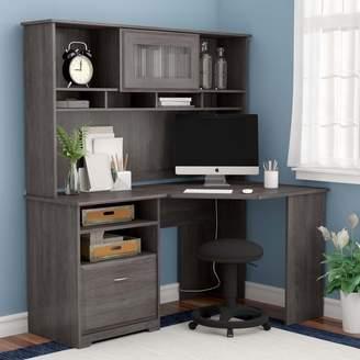 Hillsdale Red Barrel Studio L- Shape Desk with Hutch