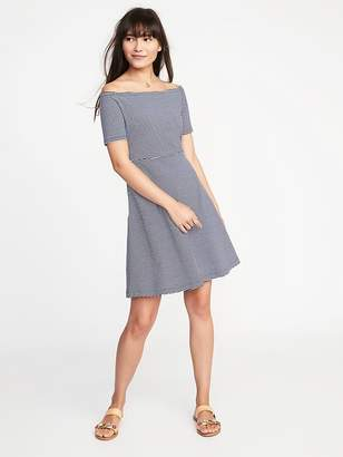 Old Navy Fit & Flare Off-the-Shoulder Dress for Women