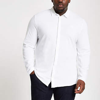 River Island Big and Tall white button down shirt