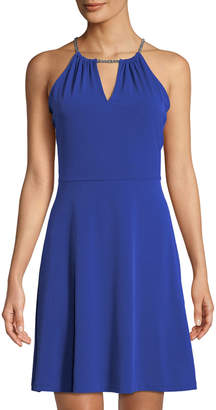 MICHAEL Michael Kors Chain-Neck Sleeveless Dress
