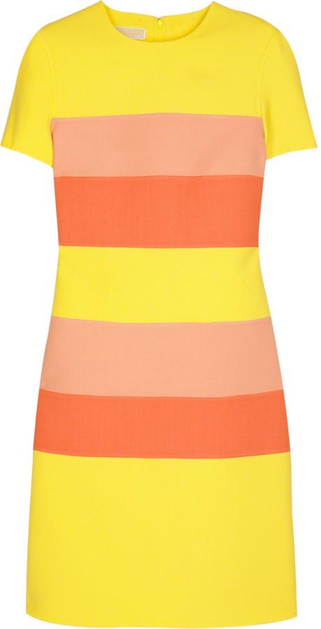 Michael Kors Wool stripe shift dress