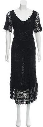 Temperley London Macramé Maxi Dress