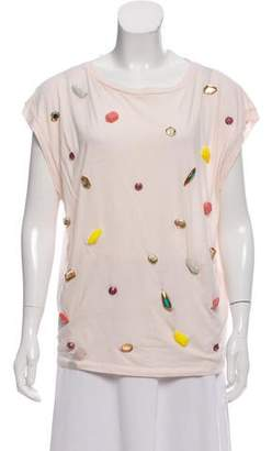 Stella McCartney Embellished Short Sleeve Top