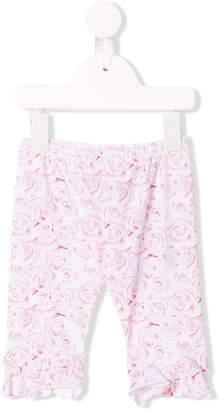 Miss Blumarine roses print trousers