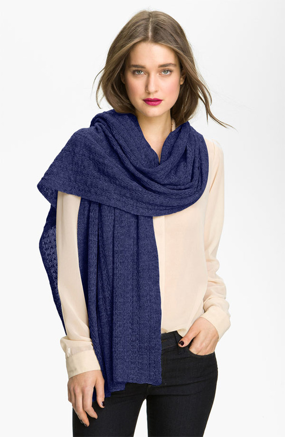 Nordstrom Collection 'Lattice Ribbon' Cashmere Wrap