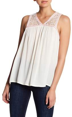 Joe's Jeans Lace & Crochet Crinkle Tank Top