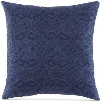 "BCBGeneration Embroidered Floral 20"" Square Decorative Pillow Bedding"