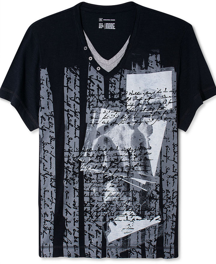 INC International Concepts Shirt, Da Boom Graphic Tee