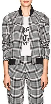 Robert Rodriguez Women's Plaid Stretch-Twill Bomber Jacket
