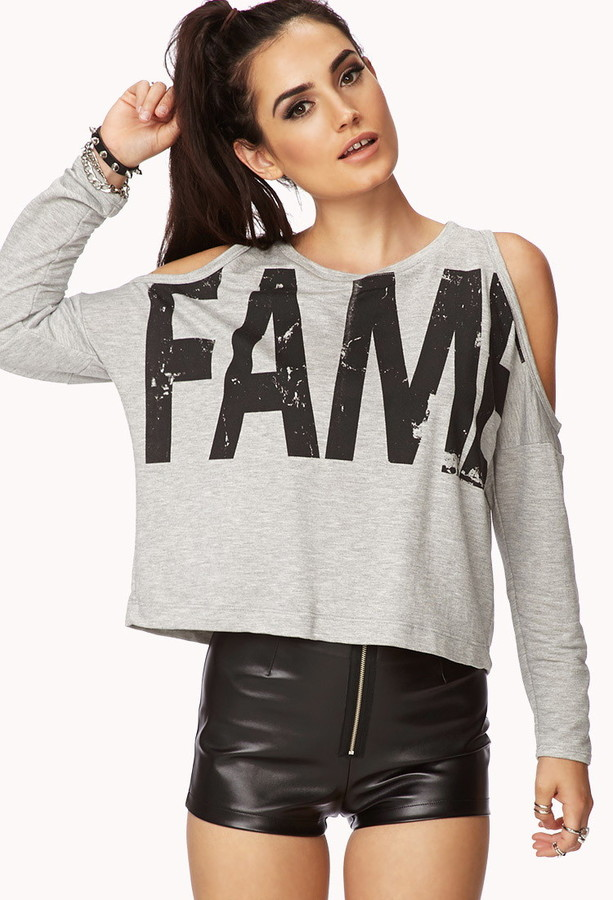 Forever 21 Spotlight Cutout Fame Top