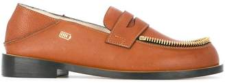 Le Mocassin Zippe textured leather loafers