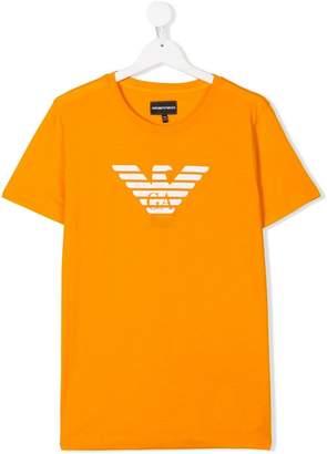 Emporio Armani Kids TEEN logo print T-shirt