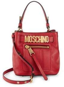 Moschino Textured Leather Tote