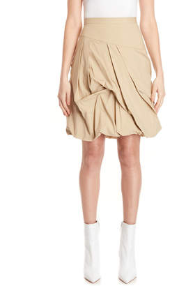 Moschino Textured Pleat Bubble Skirt